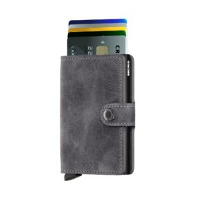 secrid miniwallet vintage grey black 2