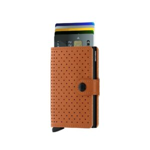 secrid miniwallet perforated cognac 2