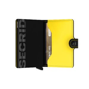 secrid miniwallet matte black yellow 3