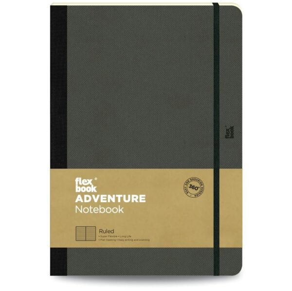 Flexbook Adventure Notebook Ruled Large Off-Black