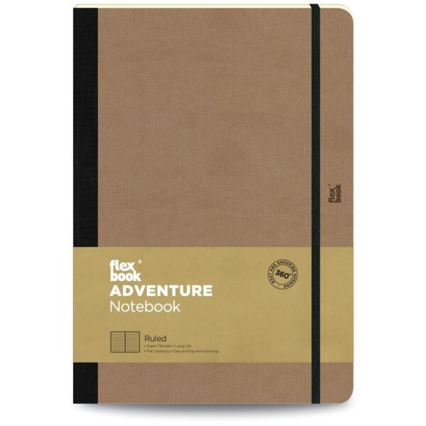 Flexbook Adventure Notebook Ruled Large Camel