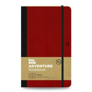 Flexbook-adventure-notebook-ruled-medium-red 1