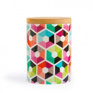 remember porcelain canister hexagon 1