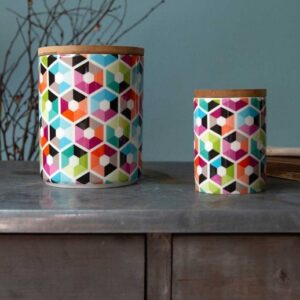 remember porcelain canister hexagon 2