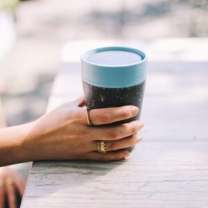 rCUP Black & teal 8oz 1