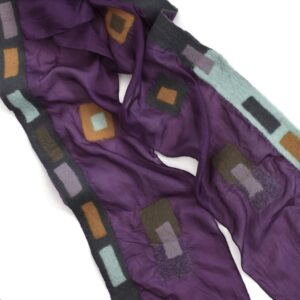 sheepcount joyful scarf silk purple 1
