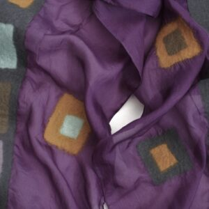 sheepcount joyful scarf silk purple 3